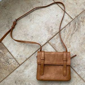 Antik Kraft Brown Vegan Leather Crossbody